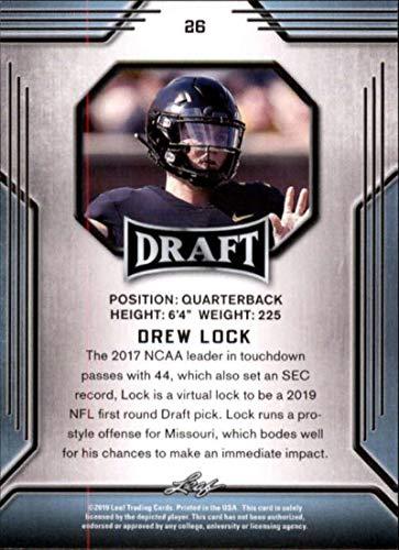 2019 Leaf Draft #26 Drew Lock RC Rookie Football Trading Card
