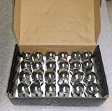 AccuWheel LNA-14200C6T Chrome Bulge Acorn Wheel Lug Nuts (14mm x 2.0 Thread Size) 1.95'' Tall - Pack of 24 Lugnuts