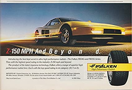 Amazon Com 1990 Falken Fk04g And Fk05g Tires Z 150 Mph And Bey