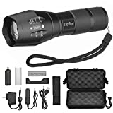 LED Tactical Flashlight, TopBest Portable Ultra Flashlight Adjustable - Best Reviews Guide
