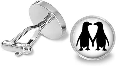 Penguin Couple Cuff Links S1245 Lifetime Guarantee Pair Penguins Cufflink Penguin Cufflinks