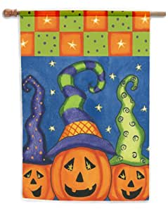"Toland, Pumpkin Family Garden Flag, 12.5"" x 18"", #117249 (Discontinued by Manufacturer)"