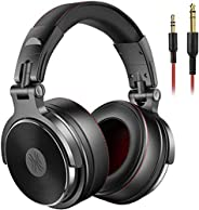 OneOdio Adapter-free DJ Headphones for Studio Monitoring and Mixing,Sound Isolation, 90° Rotatable Housing wit