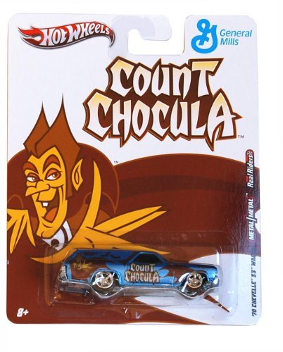 '70 CHEVELLE SS WAGON * COUNT CHOCULA * Hot Wheels General Mills Cereal 2011 Nostalgia Series 1:64 Scale Die-Cast Vehicle ()