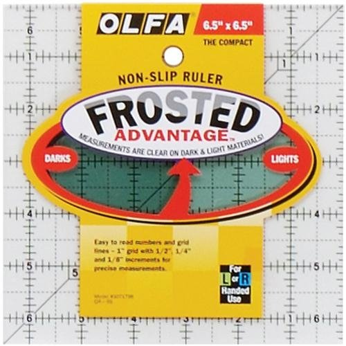 Olfa NOM084590 Frosted Advantage Non-Slip Ruler The Compact, 6-1/2