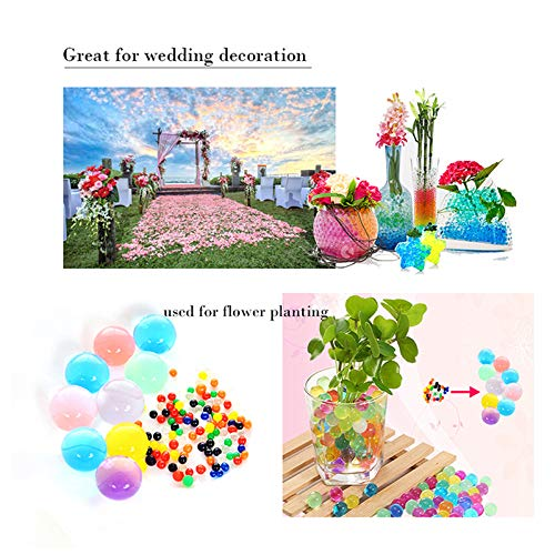 Water Beads 18 oz (over 62,000 beads!!) For Kids Sensory Experience, Toy Guns with Bullet Beads[Rainbow Mix], Party Decoration and Watering plant by TD.IVES (Image #5)