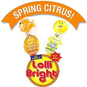 LOLLIBRIGHTS: America's First Color Changing Light-Up Lollipop! 6 Delicious Flavors; Green Apple Frog, Strawberry Rose, Smiley Lemon, Orange Goldfish, Blue Raspberry Bear, and Cherry Heart! (2)