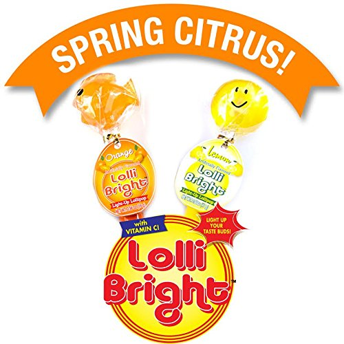 Lollipops Fish (LOLLIBRIGHTS: America's First Color Changing Light-Up Lollipop! Spring 2 pack (Fish & Smiley))