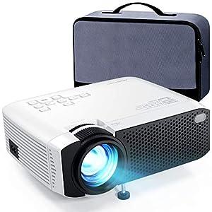 "APEMAN Projector Mini Video Projector 5500 Lumens (2021 Upgraded) 1080P Full HD Supported, 180"" Display HDMI, USB, VGA…"