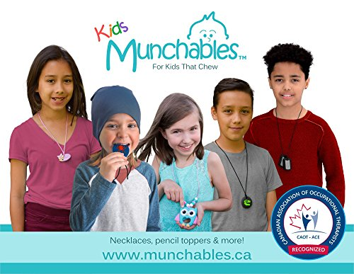 Sensory Oral Motor Aide Chewelry Necklace - Chewy Jewelry for Sensory-Focused Kids with Autism or Special Needs - Calms Kids and Reduces Biting/Chewing - Rainbow Necklace (No Knots) by Munchables Chewelry (Image #4)