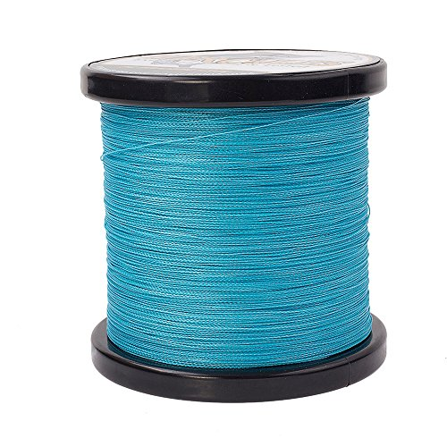 HERCULES Braided Fishing Line 2000m 2187yds 6lbs-100lbs Pe Superline 4 Strands (Blue 30lb/13.6kg 0.28mm)