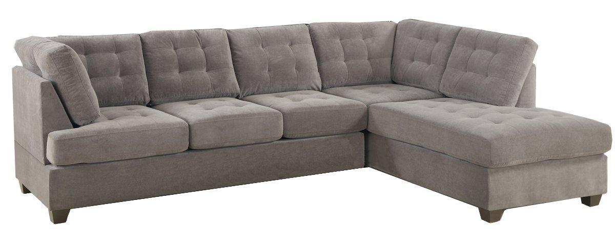 Amazon Com 2 Pcs Sectional Sofa And Ottoman By Poundex Kitchen