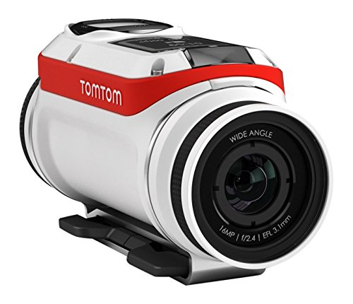TomTom Bandit 4K Body Mounted Action Cam, Bike Pack, White (Tomtom Mounted)