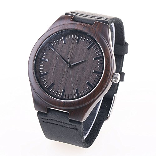 Bamboo Wooden Quartz Watch Retro Leather Fashion Watches - Wooden Watches Cheap