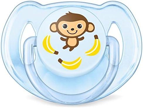 de 6 a 18 meses dise/ño mono o rinoceronte Set de 2 chupetes Gama Safari para ni/ño Philips Avent SCF169//27