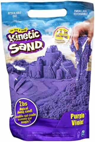 Kinetic Sand The Original Moldable Sensory Play Sand, Purple, 2 Lb