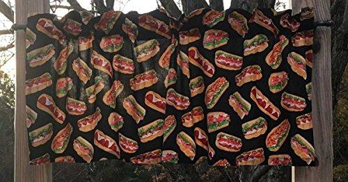 Hero Filled Roll Grinder Wedge Grinder Wedge Spukie Italian Sandwich Handcrafted Curtain Valance ()