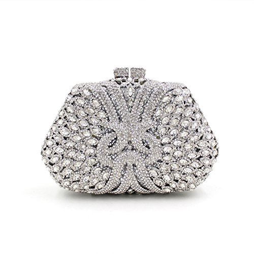 Flada Girl's and Ladies Luxury Handbag Evening Clutch Bag Rhinestones Clutch Purse for Prom Wedding #3 by Flada