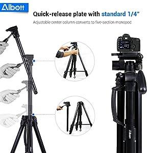 Albott 70 Inch Digital SLR Camera Aluminum Travel Portable Tripod Monopod with Carry Bag from Albott