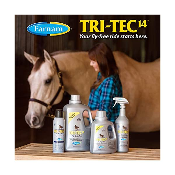 Farnam Tri-Tec 14 Fly Repellent Spray for Horses with Sunscreen 7