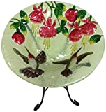 Continental Art Center CAC2607310 Bird Bath Glass Bowl, 13 by 2-Inch, Hummingbirds