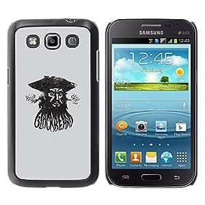 GOODTHINGS Funda Imagen Diseño Carcasa Tapa Trasera Negro Cover Skin Case para Samsung Galaxy Win I8550 I8552 Grand Quattro - mar pirata acuarela capitán negro