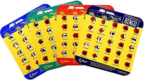 Regal Games Original Travel Bingo 4 Packs (License Plate)