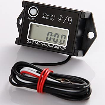 laser digital engine tachometer helps track engine oil changes, valve  adjustments, spark plugs, etc - easy to use & install: amazon ca: patio,  lawn & garden