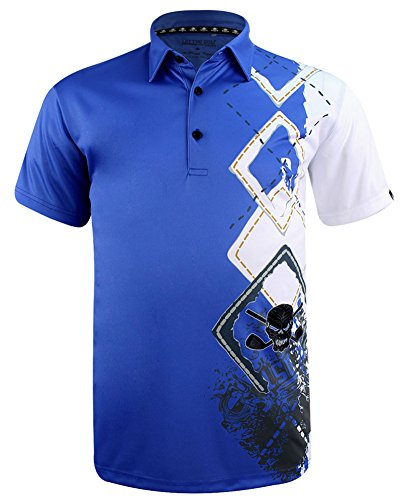 Tattoo Golf Players ProCool Men's Golf Shirt - Medium Blue
