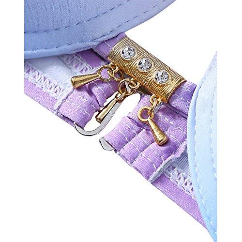 ae566d3c64285 Pxmoda Women's Gradient Color Seashell Bikini Set Padded Mermaid Swimsuit  (M, Purple-1