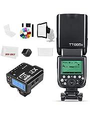 Godox Flash TT685N 2,4 GHz HSS 1/8000s GN60 Camera Flash Speedlite met X2T-N X2N 2,4 GHz X-System Trigger voor Nikon Camera (TT685N +X2T-N)
