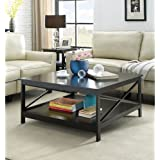 Convenience Concepts Oxford 36 Square Coffee Table, Black
