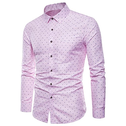 iLXHD Mens Long Sleeve Oxford Formal Casual Slim Fit Tee Dress Shirts Blouse (Non Iron Spread Collar Oxfords)