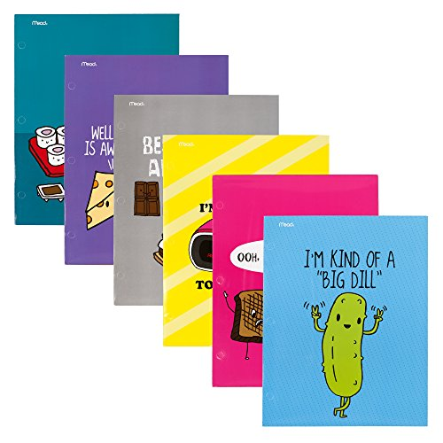 Mead 2-Pocket Folders, Loyal Army, Assorted Covers, 6-Pack (73294)