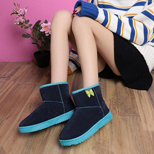 Pantofola Da Donna Amily Su Pantofole Stivali Outdoor Stivaletti Invernali Caldi Alla Caviglia Blu Scuro