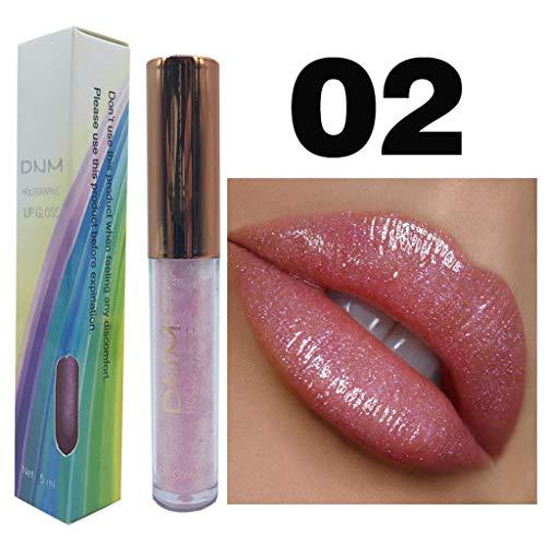 (Liquid Lipstick, Glitter Shimmer Waterproof Long Lasting Makeup Lip Gloss 6 Colors (B))