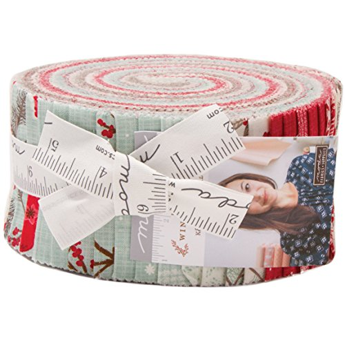 Return to WInter's Lane Jelly Roll 40 2.5-inch Strips by Kate & Birdie for Moda ()