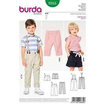 Burda Kinder Schnittmuster 9365 Hosen & Shorts: Amazon.de: Küche ...