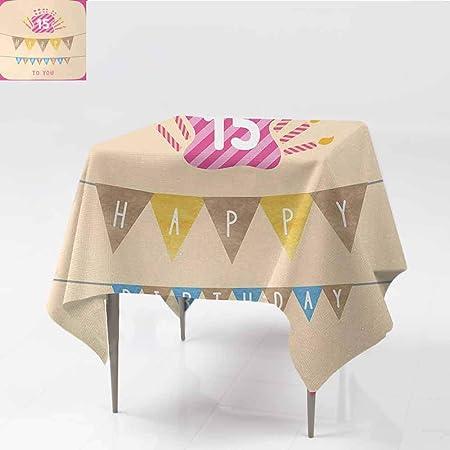DILITECK - Mantel Lavable para 15 cumpleaños, diseño de 15 ...