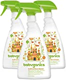 Babyganics Multi Surface Cleaner, Citrus, 32oz Spray Bottle, (Pack of 3)