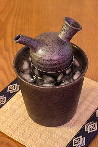 Sake Warmer / Cooler Set Mino Ware Black