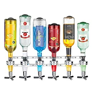 New 2017 Wall Mounted 6-station Liquor Bar Butler Wine Dispenser Machine Drinking Pourer Home Bar Tools For Beer Soda Coke Fizzy Soda