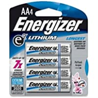 ENERGIZER e2 Lithium General Purpose Battery - AA - Lithium (Li) - 1.5 V DC / L91BP4ENE /