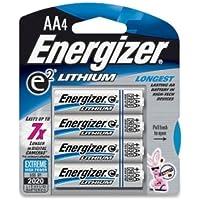ENERGIZER e2 Lithium General Purpose Battery - AA - Lithium (Li) - 1.5 V DC / L91BP4ENE /