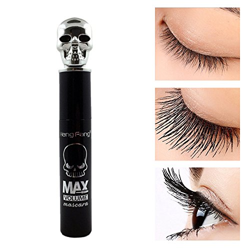 Baomabao Eyeline Thick Black Chiffon Skull Mascara Stretch Curl Waterproof Lasting Makeup - Thick Geek