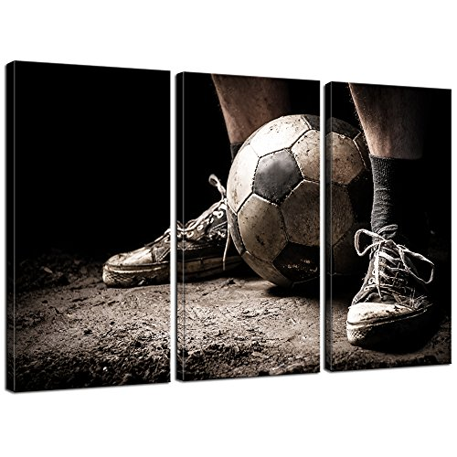 Live Art Decor - 3 Pieces Canvas Art Ragged Sneaker with a S