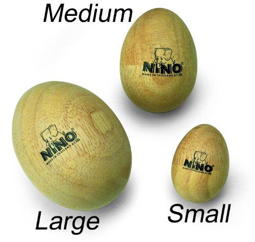 (Nino Percussion NINO564 Large Wood Egg Shaker, Natural Finish )