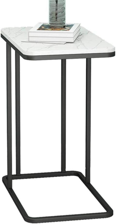 Aanbiedingen Multifunctionele bijzettafeltjes, van marmerijzer, kleine salontafel voor woonkamer, movable snack tafel, balkon, slaapkamer zwart V6KSBKS
