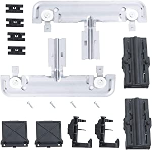 W10712395 Dishwasher Parts Upper Rack Adjuster Kit Replacement by Cykemo, W/1.2in Diameter Wheels for Whirlpool Kenmore Dishwasher Replaces W10712395VP, PS10065979, W10250159, W10350375