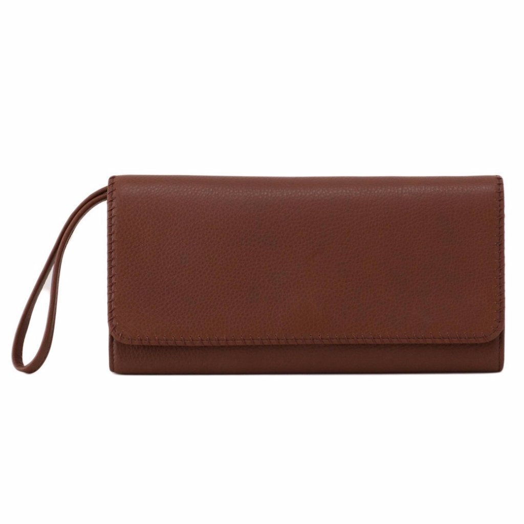 Hobo Supersoft Leather Era Clutch Wallet - Brandy